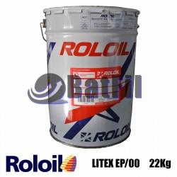 Grasso al litio LITEX-EP/00 22 kg Q8 Roloil