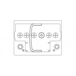 Batteria Autopart 12 Volt 55Ah  420A (EN) polarità DX dim 242 x 175 x 190(h)