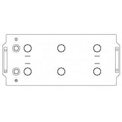 Batteria Autopart 12 Volt 220Ah  1300A (EN) polo + DX dim 513 x 273 x 237(h)