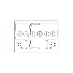 Batteria Autopart 12 Volt 50Ah  460A (EN) polarità DX dim 207 x 175 x 190(h)