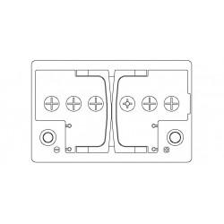 Batteria Autopart 12 Volt 90Ah  810A (EN) polarità DX dim 353 x 175 x 190(h)