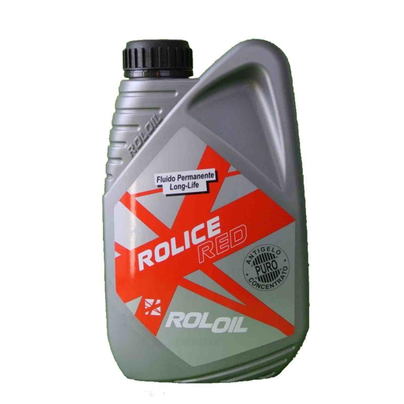 Liquido per radiatore Q8  Rol Ice Red Long Life puro -38°   1 lt