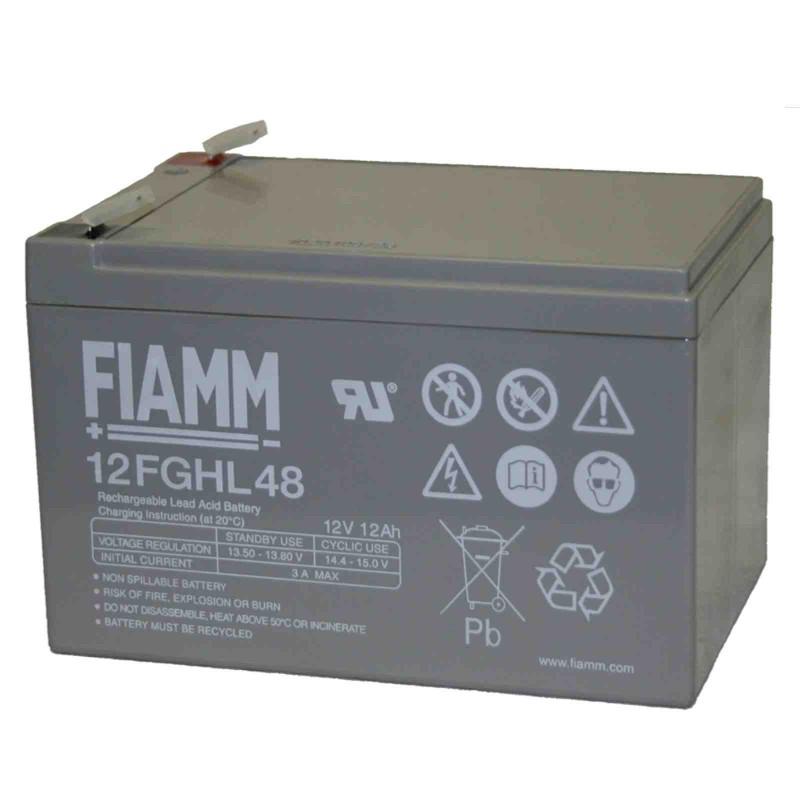 Fiamm  12FGHL48 12V 12Ah batteria AGM VRLA al piombo sigillata ricaricabile
