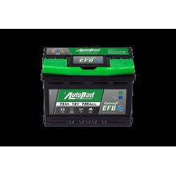 Batteria StartStop 12V 72Ah 720 polo + DX dim 278 x 175 x...