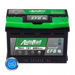Batteria StartStop 12V 70Ah 650A polo + DX dim 278 x 175...